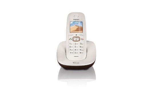 Gigaset Dune CL540 Dect-Schnurlostelefon, perlmutt-weiß/braun
