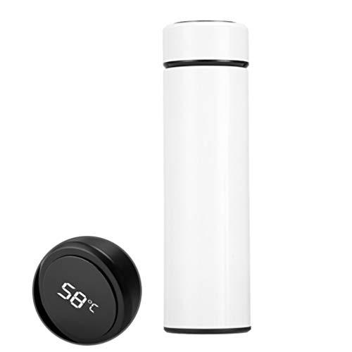 ZJL220 Termo de 500 ml, con indicador de temperatura, acero inoxidable, para viajes, café o té