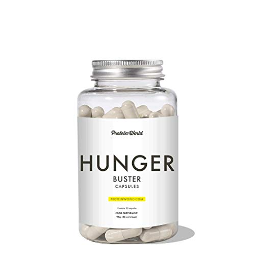 Protein World Hunger Buster Capsules Glucomannan supplement for curbing...