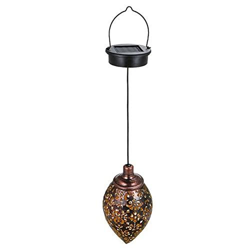 YEEGO Farol solar, luces de jardín para colgar al aire libre, lámpara de metal para decoración de patio, patio, jardín, jardín, porche, patio, patio