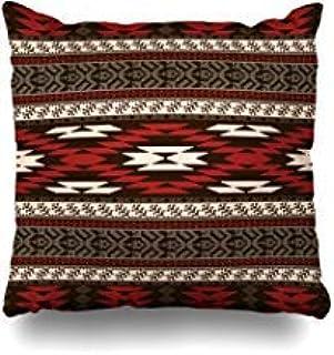 GFGKKGJFF0812 Fundas de cojín estilo indio étnico nativo americano abstracto con patrón geométrico azteca tribal Navajo Ikat mexicano 45,7 x 45,7 cm para sofás, fundas de almohada para niñas