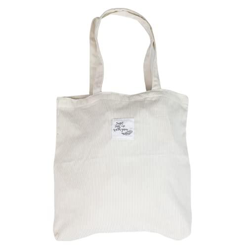 GoDaily – Dames – Schoudertas – Handtas – Bag – Ribstof – Canvas – Katoenen Tas – Tote –