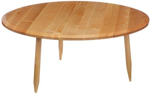 Marchio Amazon - Movian Đerdap - Tavolino da caffè in betulla massello, 90 x 90 x 40 cm, naturale