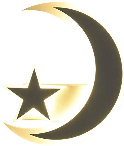 Cartoon LED nachtwandlamp ster en maan driekleurig licht kinderkamer decoratie wandlamp slaapkamer woonkamer wandlamp (kleur: wit licht sneeuwvlok)
