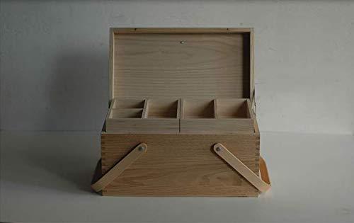 倉敷意匠計画室栗のソーイングボックス木製裁縫箱日本製