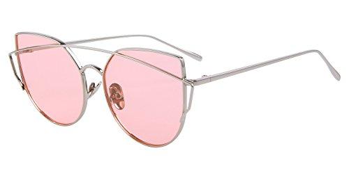 MERRY'S Damen Sonnenbrille Schwarz Schwarz, Pink