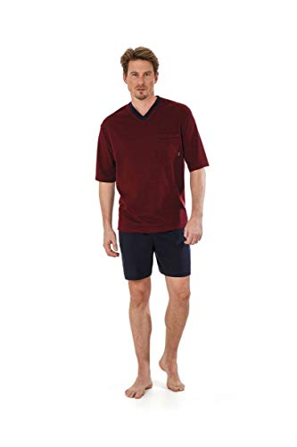 hajo Shorty 50020 337 Kurzarm 1/2 Arm Bordeaux/blau Klima Light, Größe:62 / 5XL