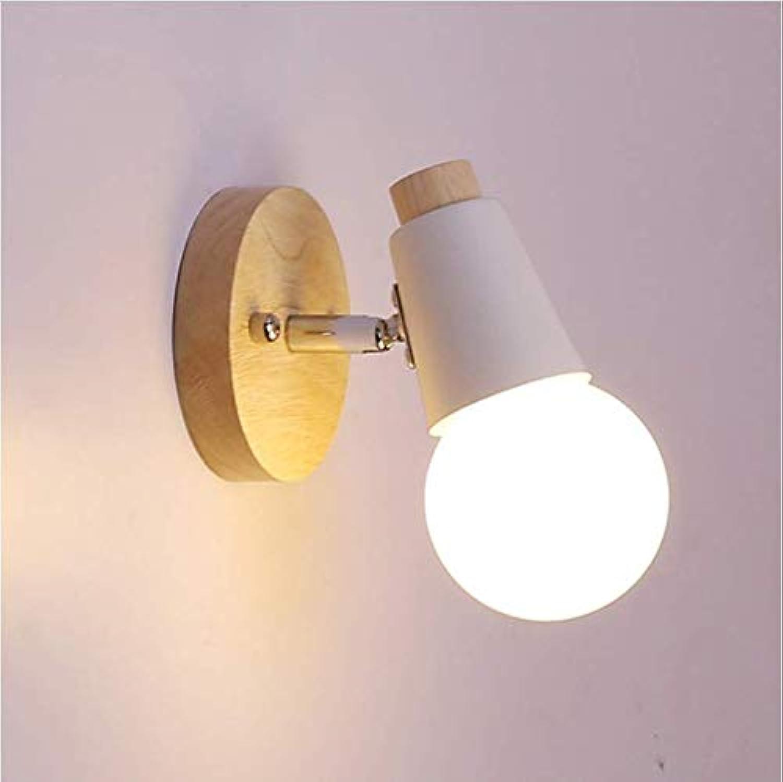 Nordic Schlafzimmer E27 Wandleuchte Nachttischlampe Kinderzimmer Flurdekoration wei