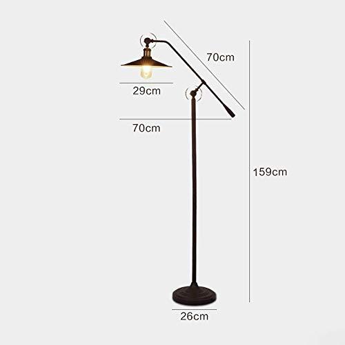 ZGYQGOO Vintage steampunk Swing Arm Vertical light,Industrial wind retro water pipe lamps, American village Loft living room bedroom book floor lamp - 2 Joints Adjusted (Black) steampunk buy now online