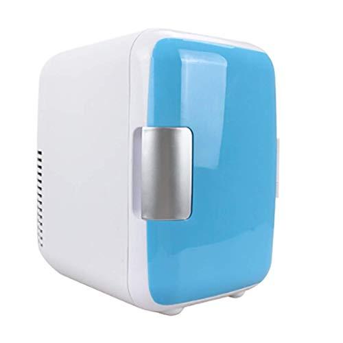 Mini-Kühlschrank, 4 Liter tragbarer Mini-Kühlschrank Kühler und Wärmer, tragbarer Griff Winziger Retro-Kühlschrank für Autofahrten (Größe: 24 x 18 x 25 cm)