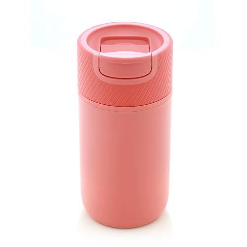 Water Logo KaffeeBecher to go, Coffee to go Becher. 350 ml, mit Magic Grip Pad! Doppelwand Isolierung, 100% auslaufsicher, Design Reisebecher, Travel Mug.(Pink)