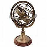 KHUMYAYAD - Globo armilar de latón, esfera náutica de latón, constelaciones del horóscopo del zodiaco