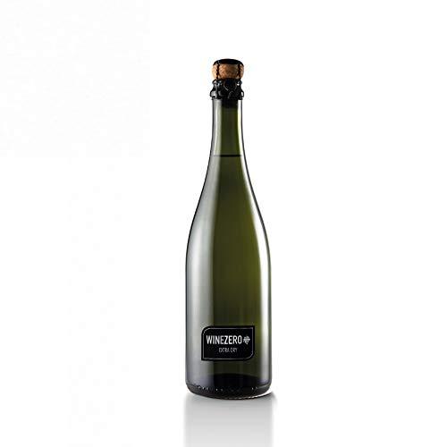 WINEZERO Spumante Extra Dry - Confezione 6 bottiglie - Bollicina di Vino senza alcool a base di uva bianca fermentata e dealcolata, con aggiunta di anidride carbonica