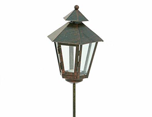 Gartenstecker Laterne für Teelicht auf Stab, Metall