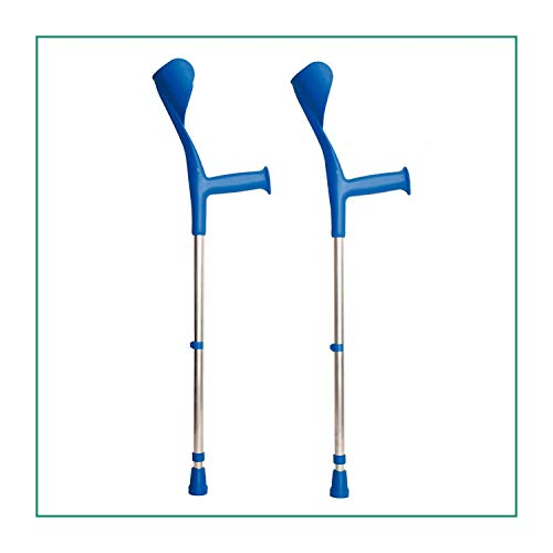 ORTONES | Pack de 2 Muletas Adulto Regulable de Aluminio | Color Azul. ✅