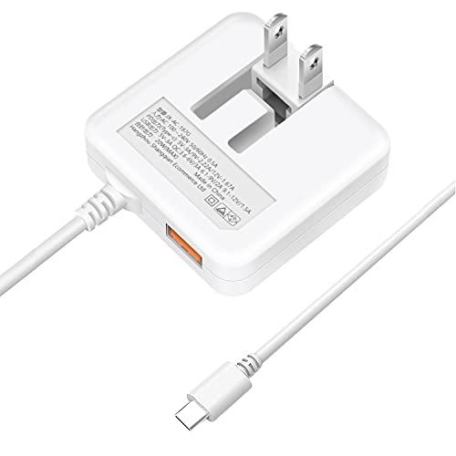 【最新改善版】USB充電器 合計3.4A Type-C PD&QC3.0 急速充電 ケーブル一体型 (薄型&1USBポート&1.5mType-Cケーブル&折りたたみ式プラグ) スマホ ACアダプター コンセント PSE認証済 iPhone/iPad/Android&iOS/ゲーム機など対応