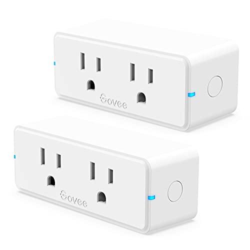 Govee Dual Smart Plug 2 Pack, 15A WiFi Bluetooth...