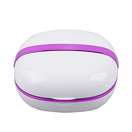 QERNTPEY Contact Lens Cleaner Contact Lens Cleaner Corneal Plastic Lens Cleaner Cosmetic Contact Lens Cleaning Box Automatic Washing Box Occupies Less Space (Color : White, Size : 9.8x8.6x4.5cm)