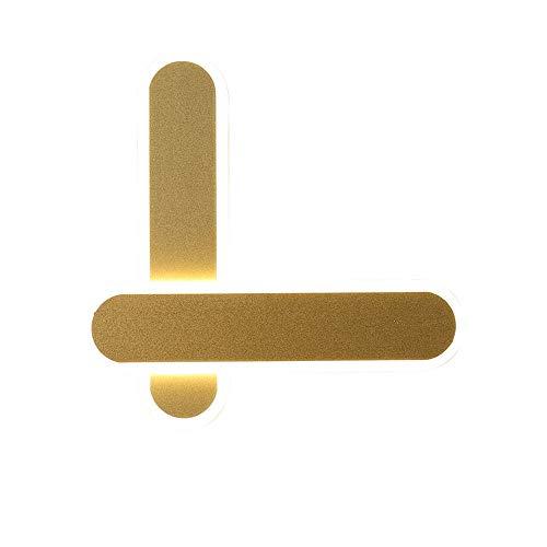 Preisvergleich Produktbild YBright Moderne LED Wandleuchten 14W Indoor Acryl Up Down-Nachtbeleuchtung bereiftes Gold Wandleuchte Tageslicht 6000K 8, 6 Zoll Wandleuchte for Schlafzimmer Wohnzimmer Korridor,  nicht dimmbar