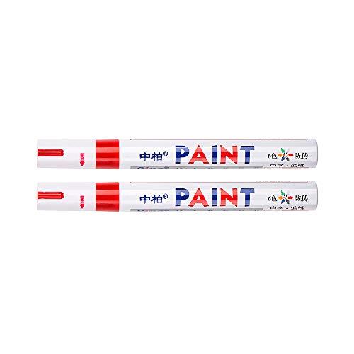 SIPA 2- impermeable universal permanente de pintura rotulador del neumático del coche de la pisada del neumático de caucho metal para rojo