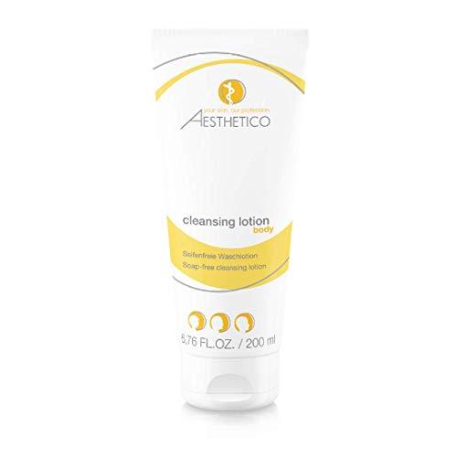 AESTHETICO cleansing lotion - Mildes seifenfreies Reinigunsgel für alle Hautbilder, für Gesicht und Körper, pH-hautneutral, mit Mineralien aus dem Toten Meer angereichert, 200 ml