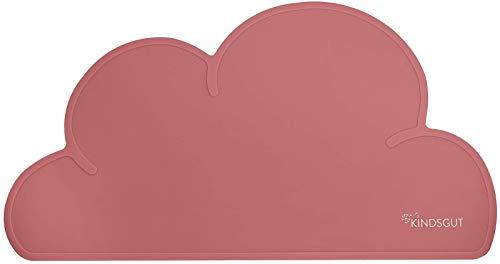 Kindsgut tovagliette in silicone a forma di nuvola, rosa antico