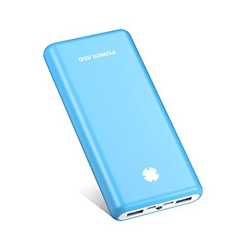 Powerbank Pilot X7 20000mAh PD 18W Externer Akku USB C Power Bank mit Power Delivery Schnellladefunktion Tragbares Ladegerät für Handy, iPhone, Samsung Galaxy, Huawei und Mehr - Blau