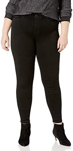 Celebrity Pink Jeans Women s Plus Size Super Soft Mid Rise Skinny Jeans Black Rinse 18W product image