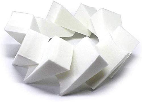 Detazhi Petite Haute densité trapézoïdale Humide et feuilletée Triangle feuilletée éponge sèche (Paquet de 10) 4.5cm / Blanc (Color : White, Size : 4.5cm)