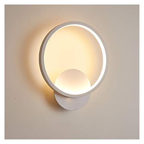 Drdcsad Wall lamp LED Wall Light for Living Room Indoor White Bedroom Bedside Home Foyer Stair Lighting Fixture wall mounted interior Sconce Lamp (Body Color : White, Color Temperature : Warm white)