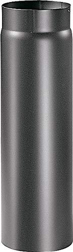 Articolo fumisteria Linea 'Legna':elemento lineare T100 acciaio verniciato,diametro 140 mm, lunghezza 1000 mm.