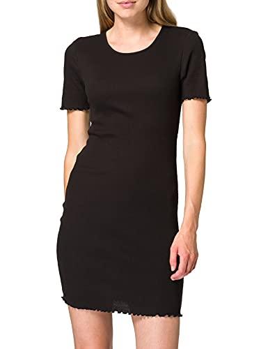 VERO MODA Damen VMNATASHA SS Short Dress JRS GA Kleid, Black, XS