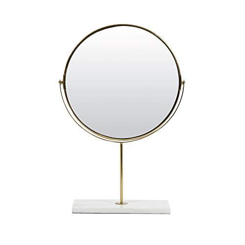 Light & Living Spiegel op voet 33x12,5x48 cm RIESCO marmer wit-goud