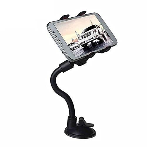 Zayaa Soporte para teléfono de Coche Flexible 360 Grados Montaje de rotación Parabrisas Clip de teléfono móvil Soporte de Abrazadera de GPS multifunción Soporte