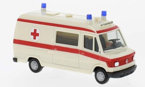 Mercedes T1 Rettungswagen, Rettungsdienst, 0, Modellauto, Fertigmodell, Herpa 1:87