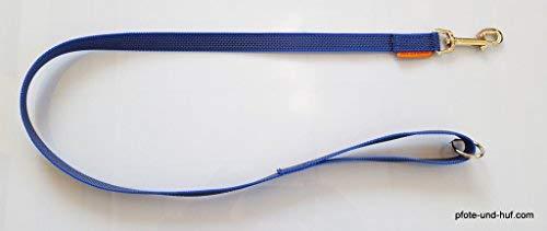elropet Gummierte Hundeleine 1m mit Handschlaufe u. Ring blau