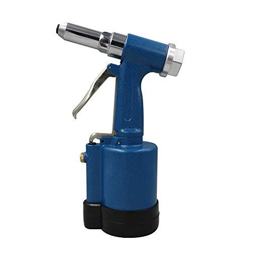 WWZL Remachadora Hidráulica de Aire, Pistola de Remaches de Tres Mordazas, Herramienta de Remachado de Pistola de Remache Ciego de Acero Inoxidable para Remaches De Acero/Aluminio,Azul