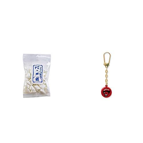 [2点セット] シルクはっか糖(150g)・さるぼぼ 身代り鈴 キーホルダー 【赤】/ 魔除け おまもり//