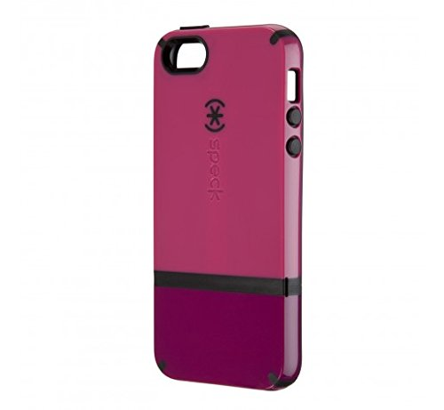 Speck Products CandyShell Flip Dockable Case for iPhone 5/5S/SE - Raspberry Pink/Dark Raspberry/Black