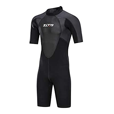 ZCCO Shorty Wetsuit Men's 3mm Premium Neoprene Full Sleeve for Snorkeling, Surfing,Canoeing,Scuba Diving Suits (3MM, XL)