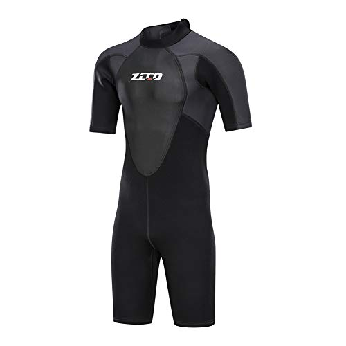 ZCCO Shorty Wetsuit Men's 3mm Premium Neoprene Full Sleeve for Snorkeling, Surfing,Canoeing,Scuba Diving Suits