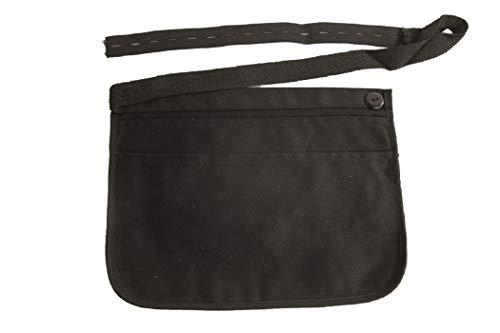 Berufsmode Kellnertasche Halfter Schwarz aus Stoff mit 3 Front Fächern