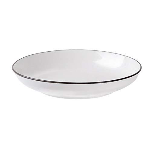 Boylee White Dinnerware - Juego de vajilla de porcelana para uso diario en casa, cuchara, cuenco, plato para uso doméstico