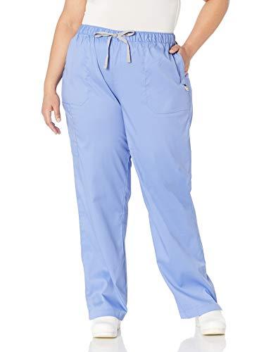 WonderWink Size Next Logan Elastic/Drawstring Waist Women's Plus Scrub Pant, Ceil Blue, 3X-Large