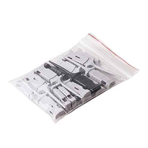 Grbewbonx Seguro de usar blanco+negro compatible con el osciloscopio Han-tek Mini gancho de prueba HT321 Dual Gripper Square Output Pin