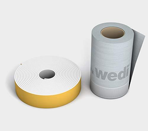 WEDI Tools Butyl-Wannendichtband, 3,6m x 12cm mit Entkopplungsstreifen