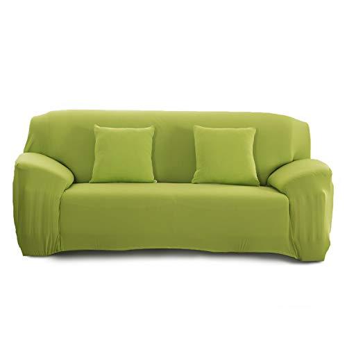 Cornasee Funda de sofá Elastica 3 plazas,Cubierta para sofá con Cuerda de fijación,Verde, 195-230 cm