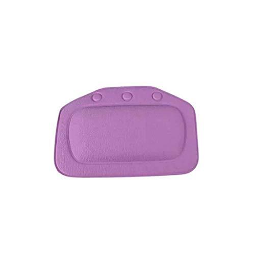 FBGood Coussin de Baignoire - Oreiller de Bain Spa Confortable Appuie-tête au Cou pour Bain Spa Baignoire et Douche Adaptable à la Baignoire de Toute Taille (Violet)
