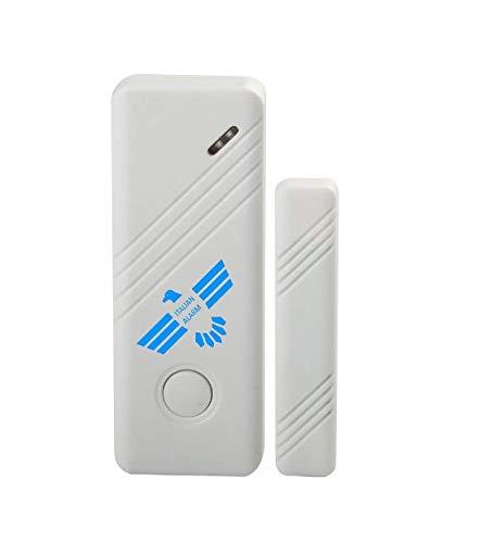 ITALIAN ALARM sensore antifurto magnetico wireless senza fili, allarme apertura porte e finestre, compatibile con tutte le centrali ITALIAN ALARM. Batterie CR2032 incluse, VIDEOTUTORIAL installazione