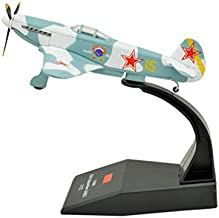 TANG DYNASTY(TM) 1:72 Yakovlev Yak-3 Fighter Attack Metal Plane Model,World War II Soviet Air Forces 1944, Military Airplane Model,DiecastPlane,for Collecting and Gift